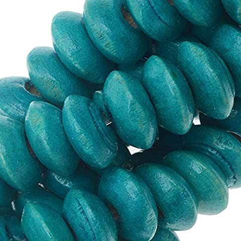 Smooth Painted Maple Wood Beads, Rondelle 9-10mm, 16 Inch Strand,