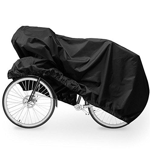 Fahrradabdeckung, Migimi Wasserdichter Fahrradgarage Fahrradschutzhülle Regenschutz Schutzbezug Fahrradgarage Fahrrad Schutzhülle Anti Dust Sun Regen Wind Proof UV Schutz(180x60x90CM), Schwarz