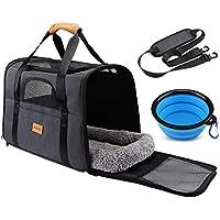 morpilot Faltbare Hundetragetasche Katzentragetasche, Haustiertragetasche, Transporttasche Transportbox Oxford Gewebe (Gratis Faltnapf als Geschenk für Hunden oder Katzen)