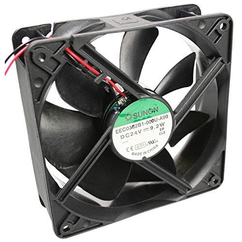 EEC0382B1-A99 Fan DC axial 24VDC 120x120x38mm 234.4m3/h 48dBA ball SUNON -