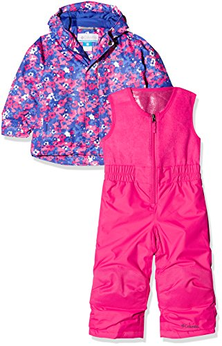 Columbia Kinder Buga Set, rosa (Punch Pink Floral Camo), 4T (Jacke-spiel Columbia)