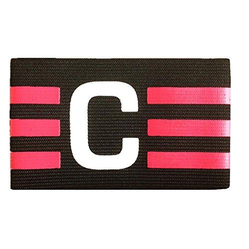 Kinbelle Fußball Armbinden, Multi Farbe Verstellbar Fußball Captain Armband, Schwarz