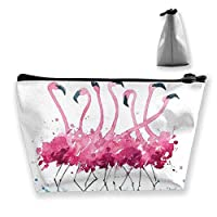 Tropical Watercolor Flamingo Cosmetic Makeup Bag/Pouch/Clutch Travel Case Organizer Storage Bag for Women¡¯s Accessories Toiletry Beauty,Skincare Travel Accessory