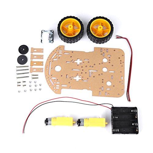 2 Rad 1 Schicht Acryl Smart Tracking Roboter Auto Chassis 2WD Kit 1:48 mit Motoren Räder Geschwindigkeit Encoder und Battary Box für Arduino DIY (1 Motor Geschwindigkeit)