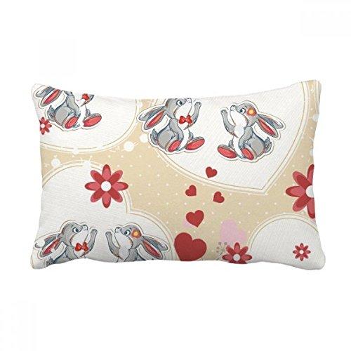 Diythinker grigio sveglio conigli san valentino gettare lombare del cuscino inserire cuscino casa divano decor regalo