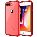 JETech Coque pour iPhone 8 Plus et iPhone 7 Plus, Étui de Protection avec Shock-Absorption et Anti-Rayures, Rouge
