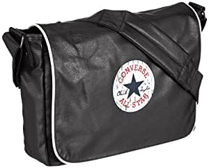 Converse Messenger Bag, Vintage Patch Pu Flapbag, black - black, 99301B-62