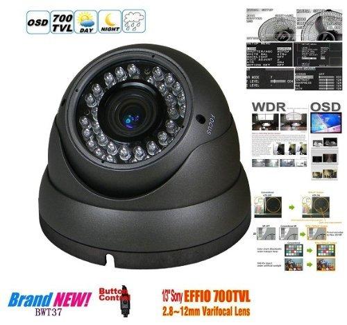 BW CAMARA CCTV HD SONY EFFIO-E 700TVL CAMARA VIGILANCIA DIA / NOCHE 2 8-12MM VARI-FOCAL CAMARA DOMO SEGURIDAD DOMO USO AL AIRE LIBRE O EN INTERIORES - COREA DEL GRIS