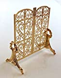 #6: Melody Jane Dolls House Miniature Fireplace Accessory Ornate Victorian Fire Screen Guard