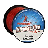 Best Bass Fishing Lines - FISHINGSIR 15 LB Fishing Line Monofilament for Bass Review