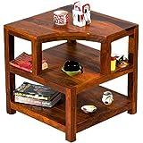 TimberTaste Opal Solid Wood Side Table (Teak Finish)