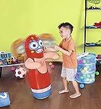 Cucuba® BESTWAY 52193 BOP BAGS AUSBLASBARER WRESTLER BOXSACK 91CM PUNCHING BALL KAMMER ZUM BEFÜLLEN MIT SAND FÜR MAXIMALE STABILITÄT GEEIGNET FÜR KINDER AB 3 JAHREN - GESCHENKIDEE (Farbe: Rot)