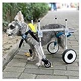Hund Rollstuhl,hunderollstuhl,Hund Auto, geeignet für Haustier Hinterbein Praxis Rehabilitation Glied Behinderten behinderte verletzt Assist Walking, große kleine Hunde, einstellbar, 4-Wheeled 2-Rad C