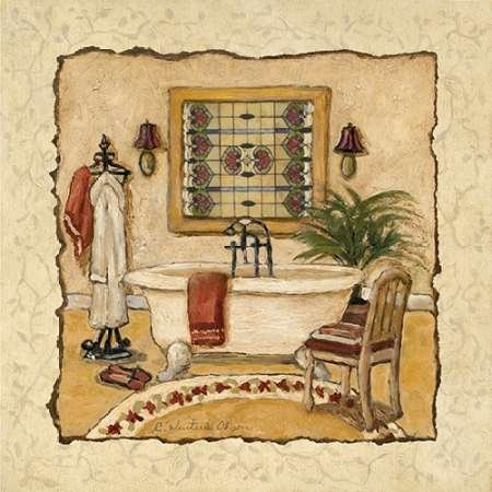 Feeling at Home Feelingathome.it-LEINWANDDRUCK-Art-Deco-Bath-II-cm54x54-poster-bild-auf-leinwand -