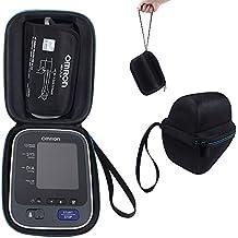 Duro portátil cubierta de la caja Bolsa de protección Caso para Omron 10inalámbrica de la serie parte superior del brazo monitor de presión arterial (BP786/BP785N/BP791IT) estuche de almacenamiento de viaje, color Black+Blue
