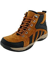 Men's Suede Leather (Genuine Leather) Outdoor Boots, Trekking Boots For Men