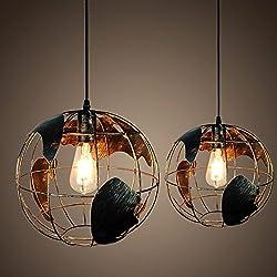 'Modern industriales creativo Globe–Lámpara de techo motent Vintage estilo la Industria lámpara 11,81ancho iluminación de globo terráqueo de tipo Ceiling Luz araña lámpara E27Portalámparas techo único Lámpara para cocina Sótano