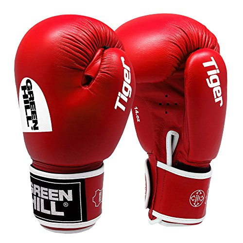 Greenhill TIGER Boxing Gloves (Red, 12 OZ) -
