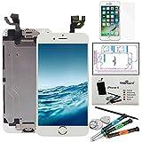 Kit di Riparazione Vetro Schermo Per iPhone 6 (4,7)' Bianco Ricambio Completo LCD Display - Trop Saint® con Pellicola Protettiva