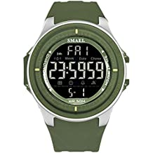 ZHRUIY Relojes de Pulsera ZH-028 LED Pantalla Digital Correa De PU A Prueba De