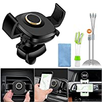 Air Vent Cell Phone Holder, Auto Lock Car Phone Holder Bracket Cradle for iPhone X 8 8 Plus 7 7Plus 6 6 Plus 6s 6s Plus 5s Samsung Galaxy S9 S8 S7 S7 Edge Note 8 Huawei LG Sony HTC or Other Smartphones Auto Clamping Stand Mount
