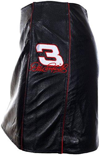Vintage Dale Earnhardt Senior # 3Leder Rock Ein Nascar Schwarz Mini Rock für Frauen, Damen, Schwarz, X-Large -