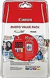 Canon CLI-551 4 Cartuchos Valuepack de tinta original Schwarz/Cian/Magenta/Amarillo (Incluye PP-201 50 sheets) für Pixma Inkjet Drucker MX725-MX925-MG5450-MG5550-MG5650-MG6350-MG6450-MG6650-MG7150-MG7550-iP7250-iP8750-iX6850