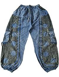 0f578038ac Xeira Pantalones Harem Oriental Hippie Pantalones Aladdin Pantalones de  Bomba para Hombres y Mujeres