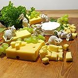 Gartenzaubereien Dekoration für Käseplatte 6 weiße Mäuse