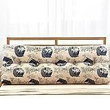 Fine Dreieck Bett Rückwand Taille Kissen Baumwolle Und Leinen Weichen Tasche, Abnehmbar Waschbar, Größe 150 * 50 * 22CM A++ ( Farbe : 11# , größe : 120cm )