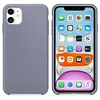 Microsonic Apple iPhone 11 (6.1'') Kılıf Liquid Lansman Silikon Lavanta Grisi