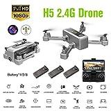 LouiseEvel215 2.4G RC Plegable Drone 1080P HD Cámara 90 Grados Gran Angular Aviones Disparo con Gestos Sígueme Modo Avión Juguete