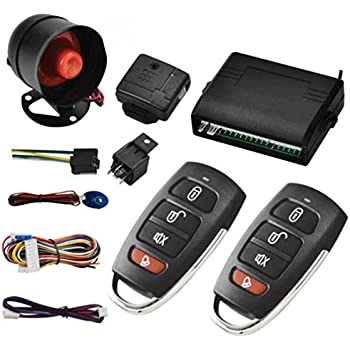 maso universal car vehicle burglar protection system alarm security+2  remote control