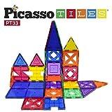 PicassoTiles PT33 - Edificio de piezas. 33pcs Bloques de edificio 3D, Kit de construcción educativo, creatividad más allá de la imaginación