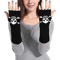 Fingerless Gloves for Winter Spiral Skeleton Style Knitting Gloves