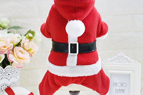 Kostüm Elf Den Für Hunde - Smoro Winter Hundekleidung kleine und mittlere Hund warm und bequem Fleece Weihnachtsmann vierbeinigen Kleidung Haustier Kleidung