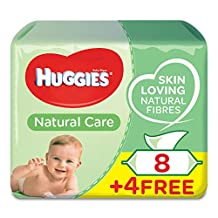 Huggies Baby Wipes Aloe, 56 Wipes 8+4