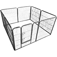 Ellie-Bo Heavy Duty Modular Puppy Exercise Play/ Whelping Pen, 158 x 158 x 80 cm, 8 Pieces