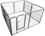 Ellie-Bo Heavy Duty Modular Puppy Exercise Play/ Whelping Pen, 158 x 158 x
