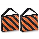 Neewer 2-er Set, schwarz/Orange, Sandsack Fotostudio-Stage-Sandsack, Satteltasche, für Stative,...