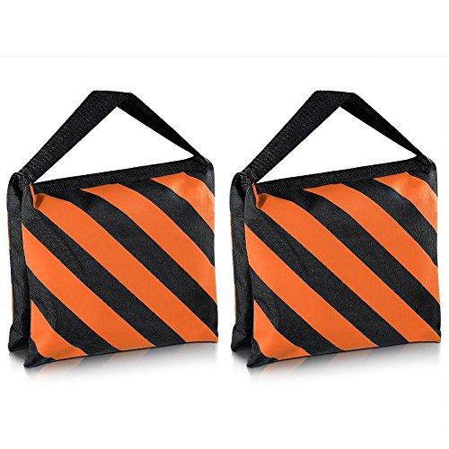 Neewer 2-er Set, schwarz/Orange, Sandsack Fotostudio-Stage-Sandsack, Satteltasche, für Stative, Lampenstative Boom Arm (Sand Studio Bag)