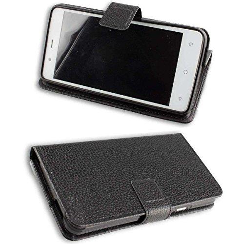 Archos 50 Titanium 4G Bookstyle-Case (Schutzhülle klappbar in schwarz)