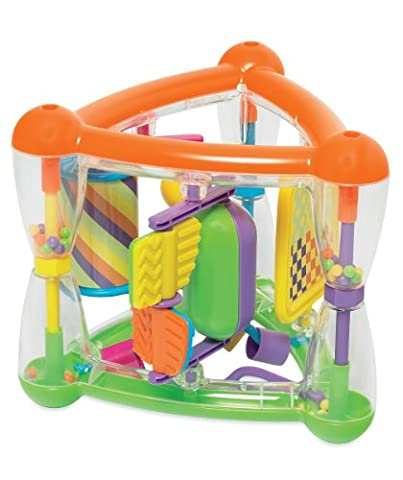 Funky Multi Activity Triangle Toy With Rattles, Spinners & Mirror - Suitable From 9 Months +