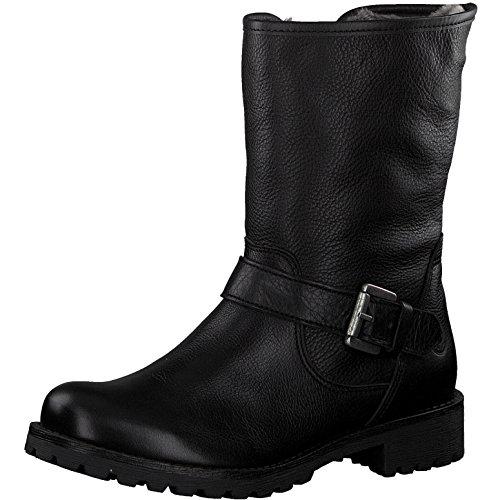 Tamaris Damen Biker Boots 26991-21,Frauen Stiefel,Stiefelette,Halbstiefel,Bikerstiefelette,Bootie,gefüttert,Winterstiefelette,Blockabsatz 3cm,Black,EU 37