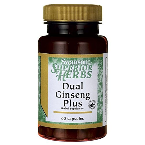 Dual Ginseng Plus 60 Caps by Swanson Superior Herbs (Superior Swanson Herbs)
