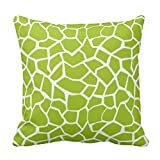 Apple verde de jirafa animal print manta funda de almohada cojín 22 x 22 ""