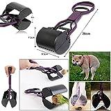 JJOnlineStore–11'Compact perro gato Pooper Scooper Mandíbula Recogedor limpia Residuos de Pick Up 28cm Hojas grasses