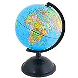 EXERZ 20cm Mappamondo Girevole/Educativo Globo - in Inglese - Diametro (20cm)