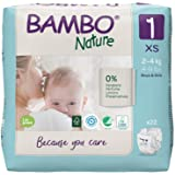 Bambo Nature Premium Baby Diapers - XS Size, 22 Count, for Newborn Baby - Super Absorbent, Eco-Friendly and with a Wetness In
