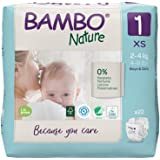 Bambo Nature Premium Baby Diapers - XS Size, 22 Count, for Newborn Baby - Super Absorbent, Eco-Friendly and with a…